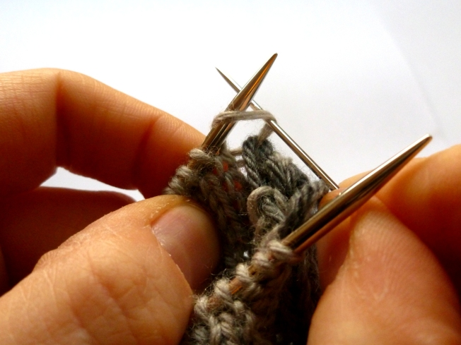 B: Knit off...