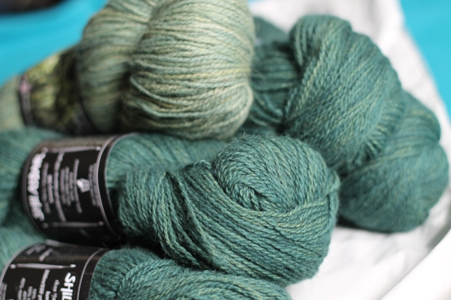 Shilasdair Luxury DK in gorgeous greens